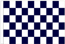 Navy Blue And White Check 5' x 3' Larger Sleeved Flag